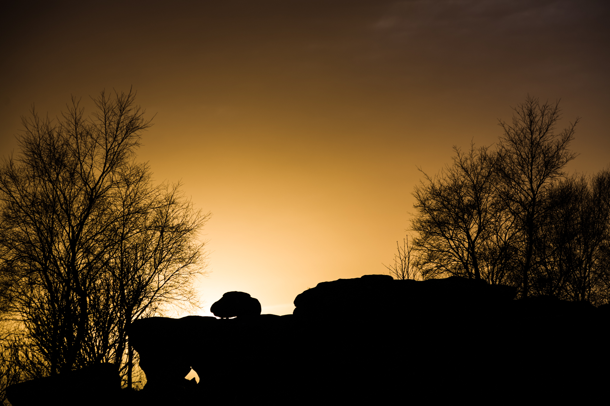 I caught this silhouette at Brimham Rocks in North Yorkshire as the sun was setting toward the end of a long day.